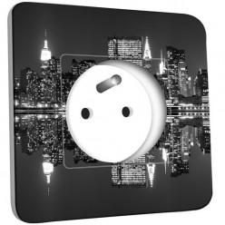 Prise décorée - New York Manhatan Black&White