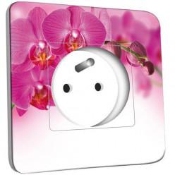 Prise décorée - Orchidée Rose