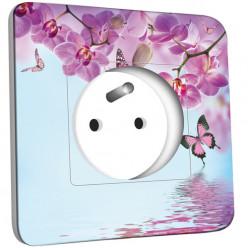 Prise décorée - Papillon Orchidée 2