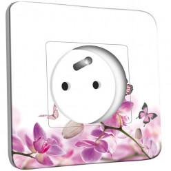 Prise décorée - Papillons Orchidées 11