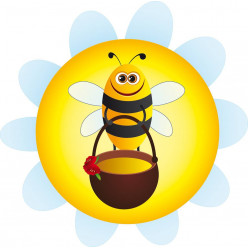 Stickers abeille miel