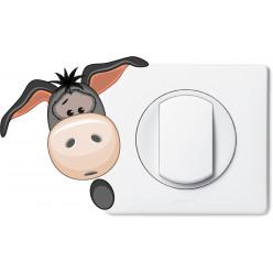 Stickers âne pour prise et interrupteur