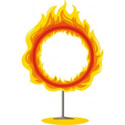 Stickers anneau en feu