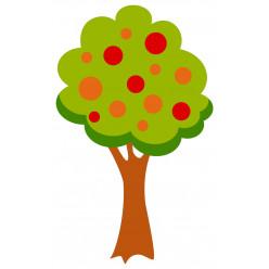 Stickers Arbre Fruits