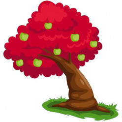 Stickers Arbre Rouge