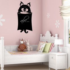 Stickers ardoise chat