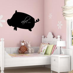 Stickers ardoise cochon