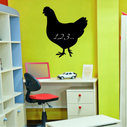 Stickers ardoise coq
