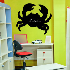 Stickers ardoise crabe