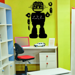 Stickers ardoise robot