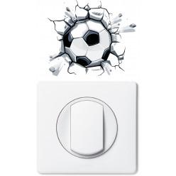 Stickers ballon de foot pour prise et interrupteur