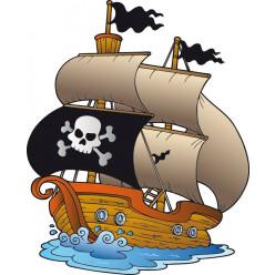 Stickers bateau pirate