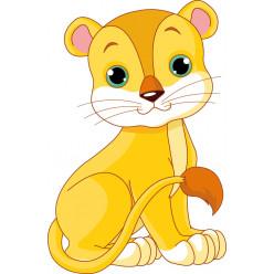 Stickers bébé lion