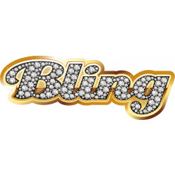 Stickers bling gold strass