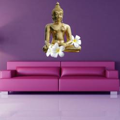 Stickers bouddha fleurs
