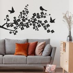 Stickers Branche de Cerisier oiseaux