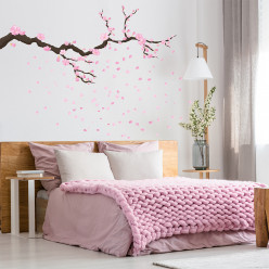 Stickers branche de cerisier sakura