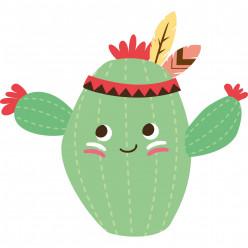 Stickers cactus indien