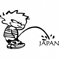 Stickers calvin japan