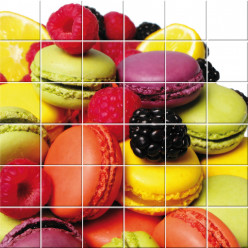 Stickers carrelage macarons