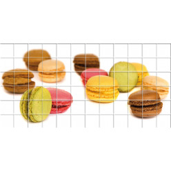 Stickers carrelage macarons