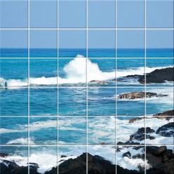 Stickers carrelage mer
