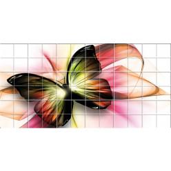 Stickers carrelage papillon