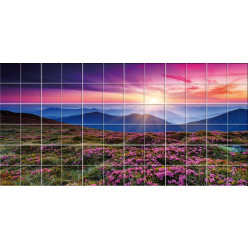 Stickers carrelage paysage