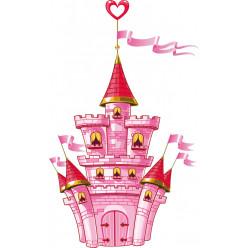 Stickers château coeur