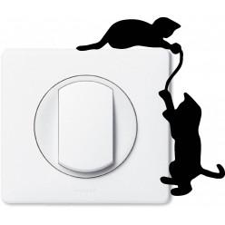 Stickers chats pour prise et interrupteur