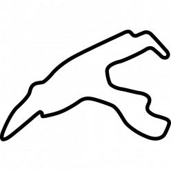 Stickers Circuit Spa-Francorchamps Belgique