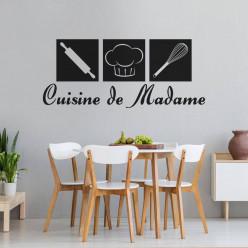 Stickers citation Cuisine de madame