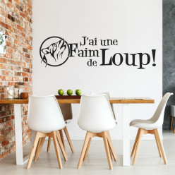 Stickers citation j'ai une faim de loup !