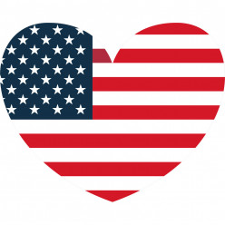 Stickers coeur USA