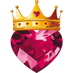 Stickers couronne et coeur en diamant