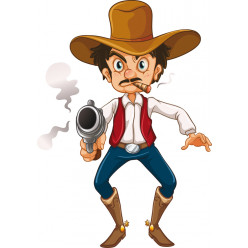 Stickers cowboy