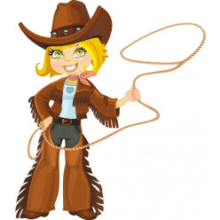 Stickers cowgirl