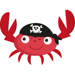 Stickers crabe pirate