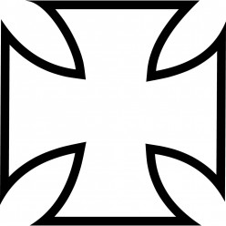 Stickers croix west coast choppers