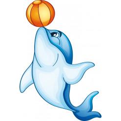 Stickers dauphin ballon