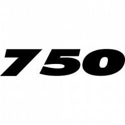 Stickers ducati 750