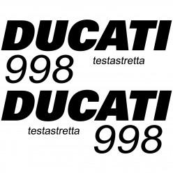 Stickers Ducati 998 testa
