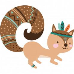 Stickers écureuil indien