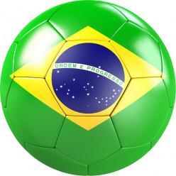 Stickers effet 3D- Ballon de foot 8