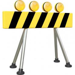 Stickers effet 3D - Barrière de signalisation 3