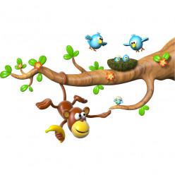 Stickers effet 3D - Branche Singe 2
