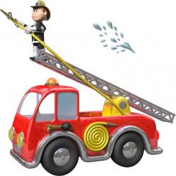 Stickers effet 3D- Camion de pompiers 4