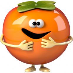 Stickers effet 3D- Clementine