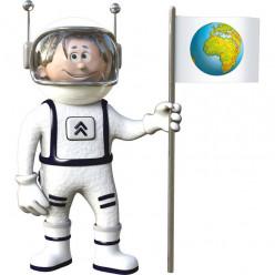 Stickers effet 3D- Cosmonaute 2
