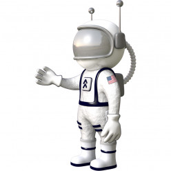 Stickers effet 3D- Cosmonaute 3